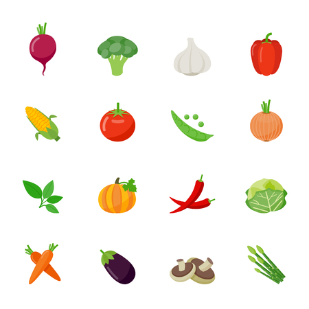 Vegetable full color flat design icon illustration Фото со стока - 37220508