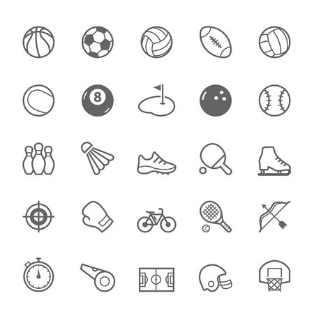 Set of Outline stroke Sport icons Vector illustration Фото со стока - 37263735