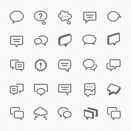 Save to a lightbox  Find Similar Images  Share Stock Vector Illustration: Talk bubble icons Vector illustration.