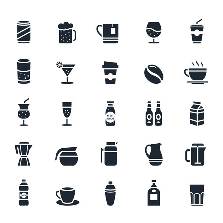 Beverage icon on White Background illustration Vectores