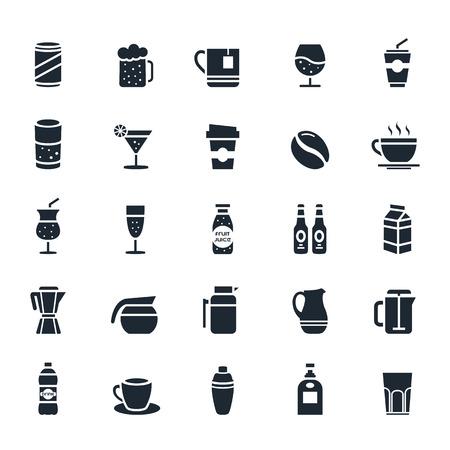 Ikona napojów na białym tle ilustracji