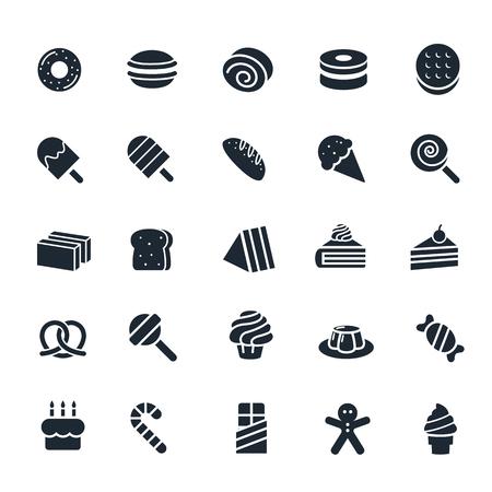 Dessert and Sweet icon on White Background Illustration