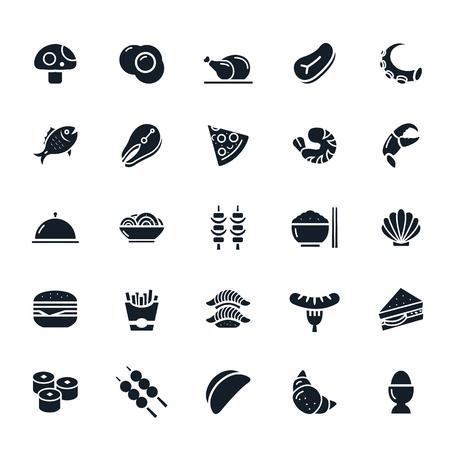 Food icon on White Background illustration