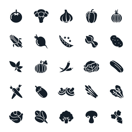 brocoli: Icono de verduras en fondo blanco Ilustración