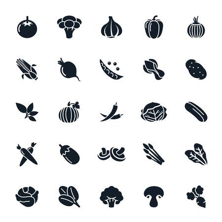 Plantaardige pictogram op witte achtergrond illustratie