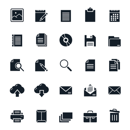 save button: Document icons illustration Illustration