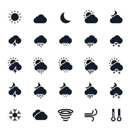 storm cloud: Weather Icons Illustration