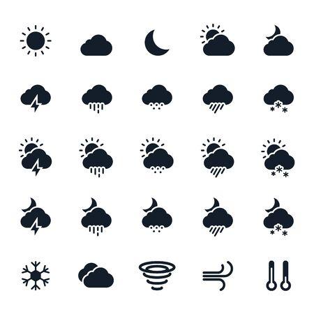 snow storm: Weather Icons Illustration
