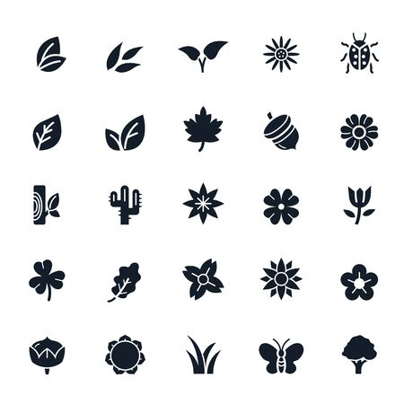 button grass: Natural Icons Illustration