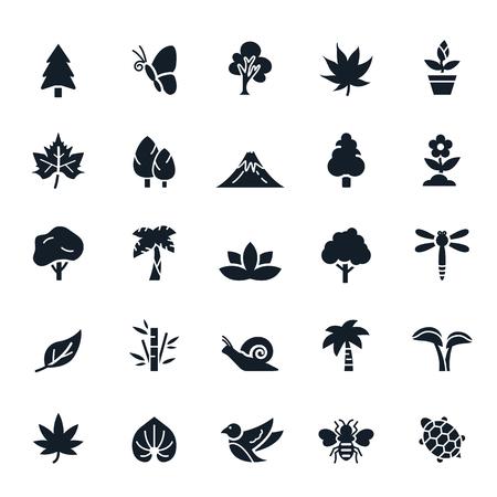 Iconos Naturales Ilustración