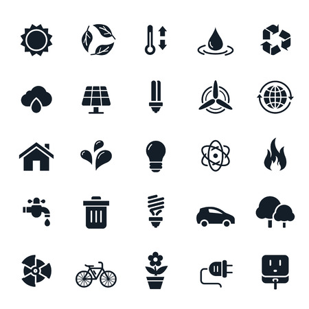 the environment: Ecology and Environment Icons Illustration Illustration