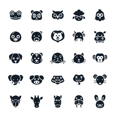 grenouille: Animal Icons Illustration