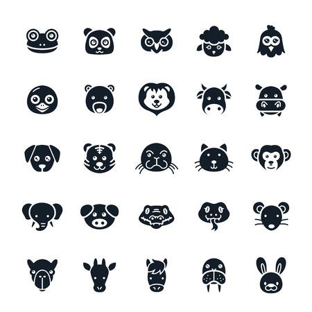 rana: Los iconos de animales Ilustraci�n