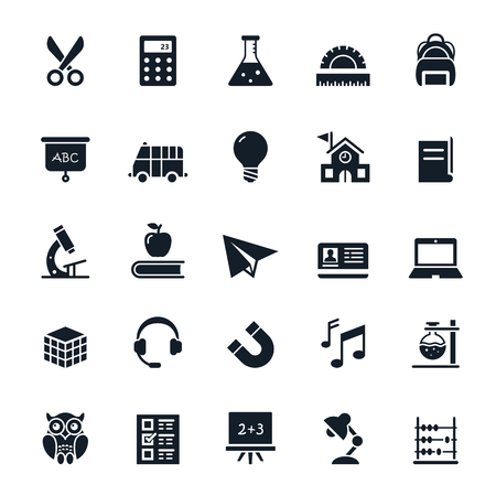 Education icons illustration Illusztráció