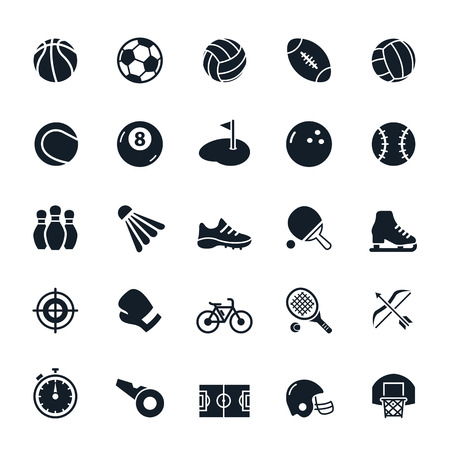 Sport icons illustration
