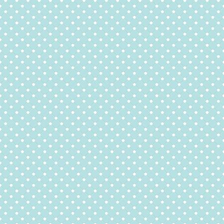 Blue Polka Dot Seamless Pattern Vector Background