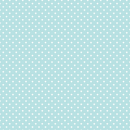 Blue Polka Dot Seamless Pattern Vector Background