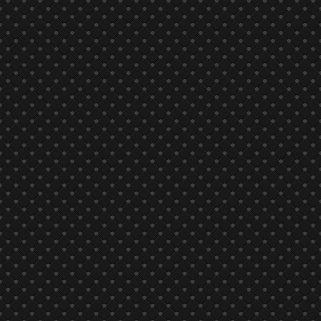 Black Polka Dot Seamless Pattern Vector Background Çizim