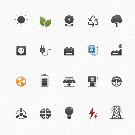 environment and power vector symbol icon set