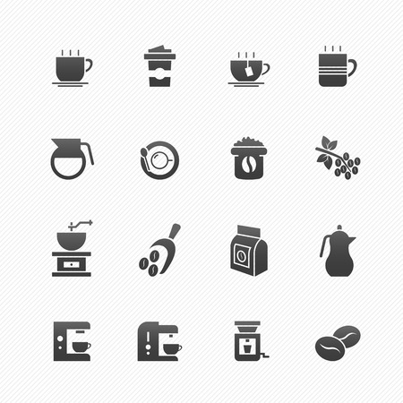 coffee cup vector: Coffee vector symbol icon set