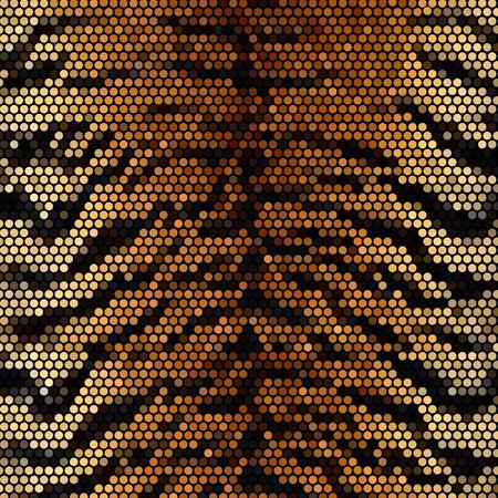 mosaic: Tiger mosaic vector background