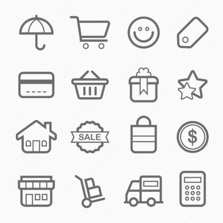 star icon: shopping symbol line icon vector illustration on white background