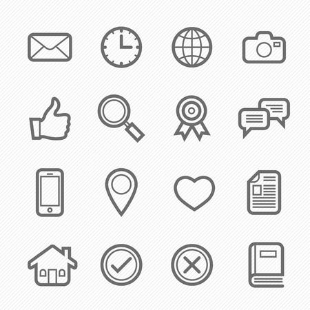 general symbol line icon on white background illustration Illusztráció