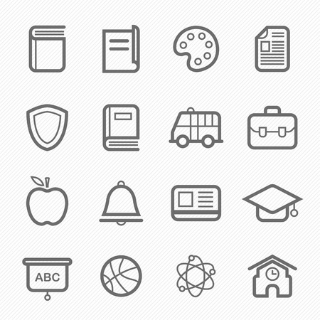 education icon: education symbol line icon on white background  illustration