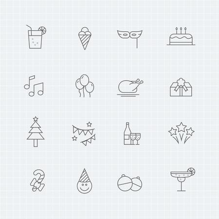 Party thin line symbol icon Stok Fotoğraf - 46702226