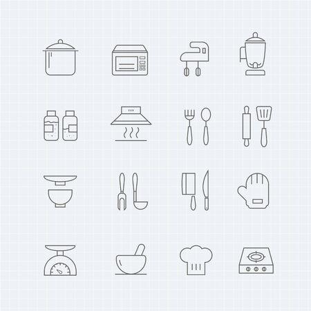 cuchillo: cocina icono de símbolo de línea delgada