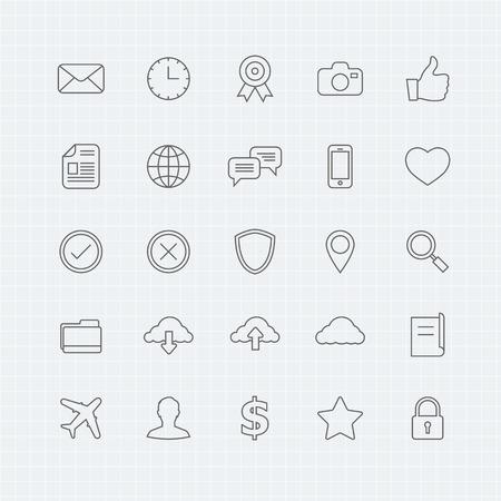 Generic thin line symbol icon