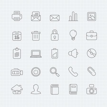shut down: Generic thin line symbol icon