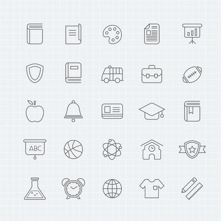 school icon: education thin line symbol icon