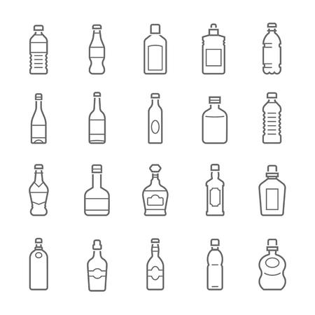 라인 아이콘 세트 - 병 및 음료 스톡 콘텐츠 - 53440348