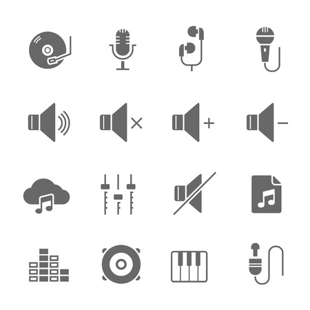 multimedia: Icon set - audio