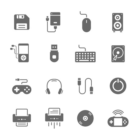 toolbar: Icon set - devices accessory Illustration