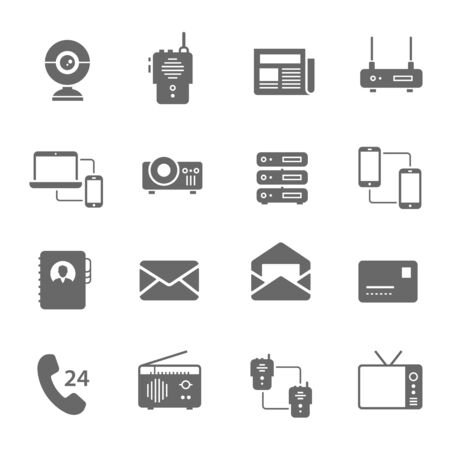 sattelite: Icon set - communication devices