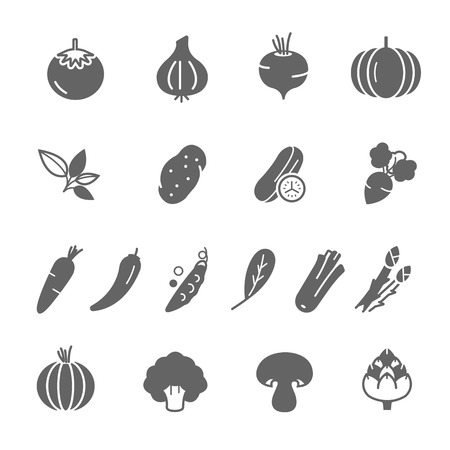 courgette: Icon set - vegetable Illustration