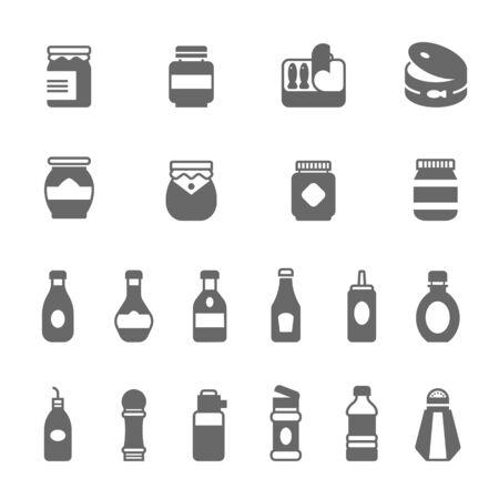 soysauce: Icon set - ketchup Illustration