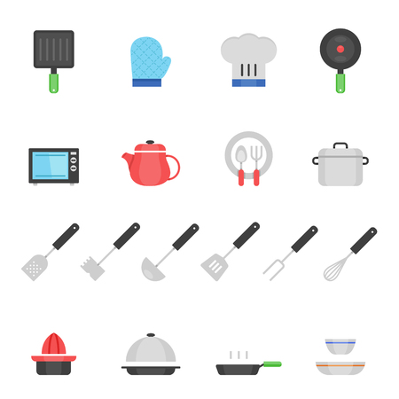 juice extractor: Color icon set - kitchenware Illustration