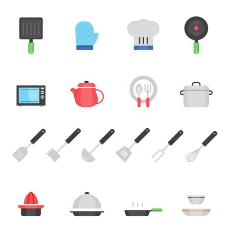 ustensiles de cuisine: icône Couleur set - ustensiles de cuisine Illustration