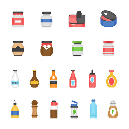 chilled: olor icon set - ketchup