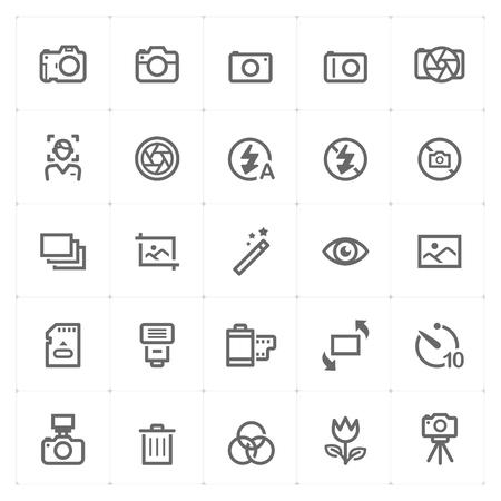 Mini Icon set - camera icon vector illustration