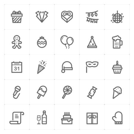 Party and celebrate icon set vector illustration in isolated background