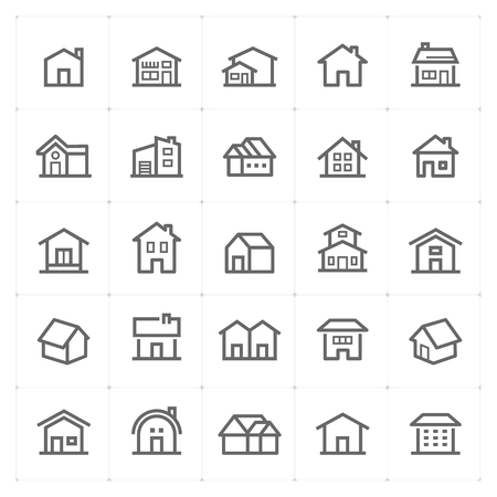 small Icon set – Home icons vector illustration