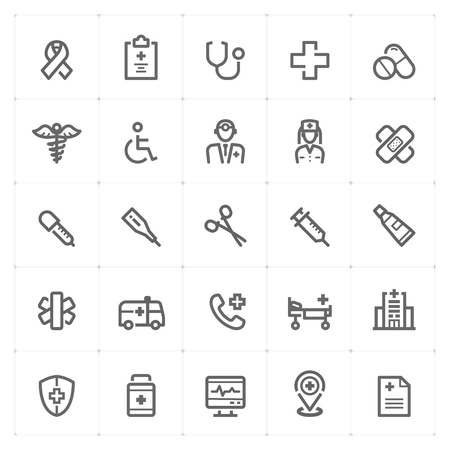 Mini Icon set – Healthcare and Medical icon vector illustration Иллюстрация