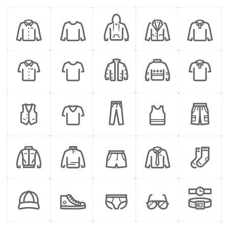 Clothing Man icon vector illustration bold line style
