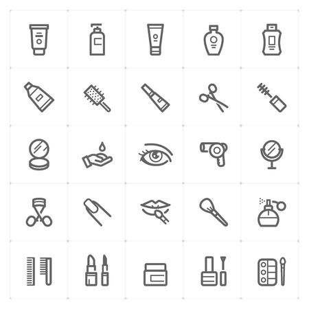 Cosmetic icon vector illustration, bold line style.