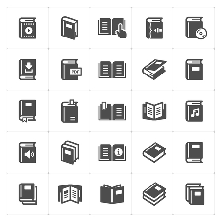 book filled icon style vector illustration on white background