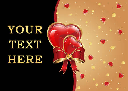 customize: Love Background with hearts. Easy to customize. Copy space for your own text